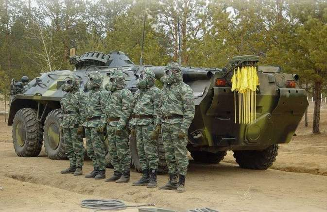 Day troops for radiation, chemical and biological protection